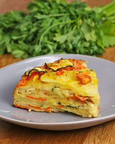 Scalloped Vegetable Bake Recipe by Tasty - try with different veggies (eggplant and peppers baking recipes Vegetable Side Dishes, Vegetable Bake, Veggie Bake, Veggie Casserole, Vegtable Casserole Recipes, Potato Recipes, Vegetable Lunch, Vegetable Slice, Potato Vegetable