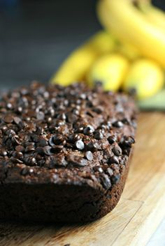 """Surprise your kids with this Double Chocolate Banana Bread when they get off the bus, because nothing says """"welcome home"""" better than banana bread!"""