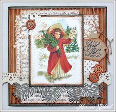 Mariannes papirverden.: Fire julekort