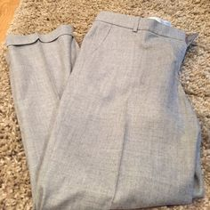 """J Crew Cafe Capri ( dressy and lightweight) Perfect for spring they are Capri and dressy and light weight . Length is 35"""" inseam is 25"""" rolled cuff leg opening is 7"""" the waist is 16"""" They look brand new. J. Crew Pants"""