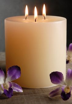 Unscented Pillar Candles 3 Wick    5x5 Ivory   Cotton Wicks  $15 each / 3 for $14 each