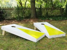 corn-hole game for back yard