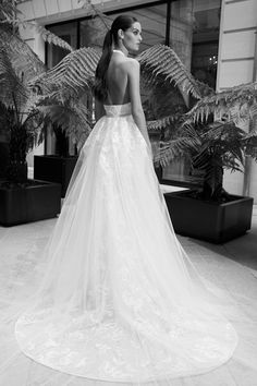 ELIE SAAB Open Back Wedding Dress, One Shoulder Wedding Dress, Elie Saab, Bridal Gowns, Wedding Dresses, Lovely Dresses, Group, Weddings, Ideas