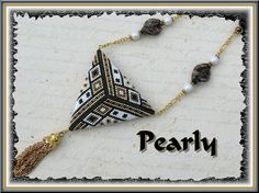 triangle réversible recto, delicas plaqué or | by pearly beads