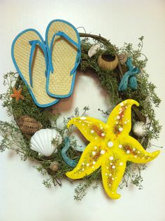 Beach Wreath Summer Fun in the Sun Door by JAZZYWREATHSINTEXAS, $65.00