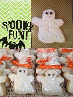 Ghostly sugar cookies