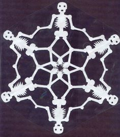 Cemeteries & Graveyards Fan Art: Skeleton Snowflake