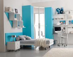 Teen bedroom blue ideas...good for boys or girls