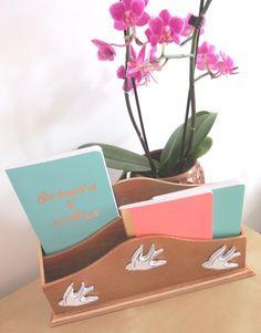 Copper memoboard DIY, copper letter rack DIY & copper mint and pink home office makeover!