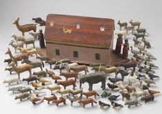 Early Noah's Arc and Animals (Sold by Robert Young Antiques) #FolkArt