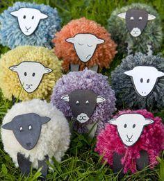 ovejitas con pompones #manualidades #DIY #Craft