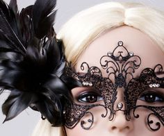 gorgeous feathered mask