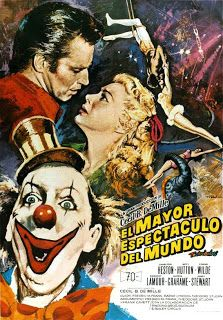 Charlton Heston, James Stewart, and Betty Hutton in The Greatest Show on Earth Tom Cruise, Cinema Posters, Movie Posters, Gloria Grahame, Send In The Clowns, Psychic Powers, Character Profile, Love Actually, King Of Fighters