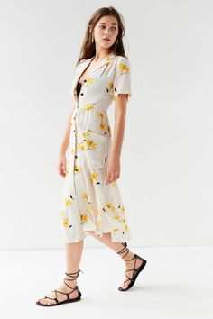 Shop UO Button-Down Midi Shirt Dress at Urban Outfitters today. We carry all the latest styles, colors and brands for you to choose from right here.