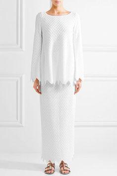 Alaïa - Jamaica Stretch-knit Maxi Skirt - White - FR40