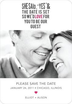 Super cute Save the Date @ Dream Wedding PinsDream Wedding Pins