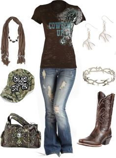 """""""camo cowgirl"""" by countryluver2013 ❤ liked on Polyvore"""