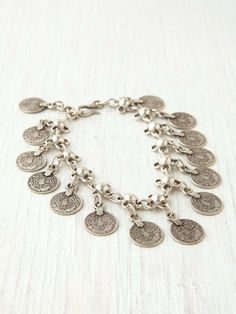 Free People Metal Charm Anklet on Wanelo
