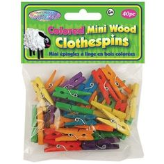 Colored Mini Clothespins, 40-Pack Multicraft Imports,http://www.amazon.com/dp/B00756M9DS/ref=cm_sw_r_pi_dp_H3MHsb0DY2MB867B