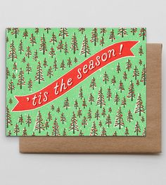 'Tis The Season Trees Holiday Cards, 6-Pack by Hammerpress on Scoutmob