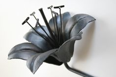 Graduation Wedding Gift Forged Iron TIGER LILY Handmade Metal Steel Flower from CheringtonMetalcraft on Etsy. Metal Projects, Metal Crafts, Metal Tree Wall Art, Metal Art, Handmade Wedding, Wedding Gifts, 6th Wedding Anniversary, Welding Art, Welding Ideas