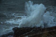 Waves crashing at Ilfracombe North Devon. #NorthDevon #NDevon