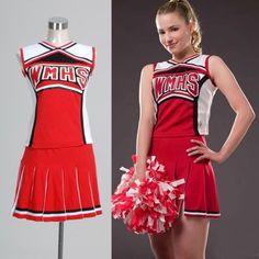 Quinn Fabray, Cheerleader Costume, Cheerleading Outfits, Costume Dress, Cosplay Costumes, Halloween Costumes, Hatsune Miku Project Diva, Glee Fashion, Yukata Kimono