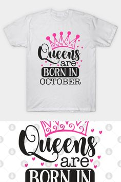 Queens Are Born In October Birthday Tote Bag Shopper Astrology Royalty Princess Queen Cool Gift Idea Ladies Womens