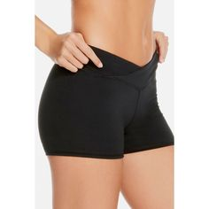 Fabletics Shortss Winn Mid Rise Shorts ($35) ❤ liked on Polyvore featuring short shorts and mid rise shorts