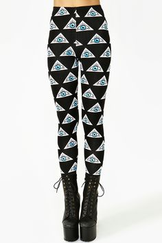 Evil Eye Leggings. I don't think I would wear them...but I still think that they're cool.