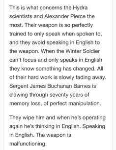 The language skills of the winter soldier