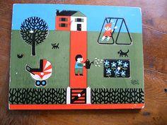 Vintage Galt Toys Wooden Picture Puzzle