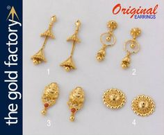 b2a61657883da 75 Best Beautiful gold earrings @ factory prices images in 2019 ...