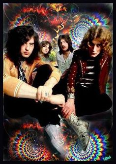 Led Zeppelin Really psychedelic picture. Very cool