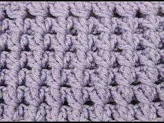 Punto crujido o musgo de crochet. Reversible / Creak stitch. Reversible - YouTube