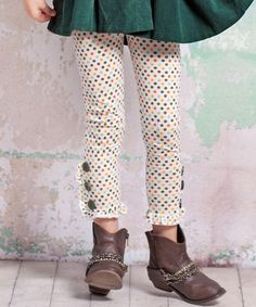 Take a look at this Monaco Button Leggings - Infant, Toddler & Girls by Jelly the Pug on #zulily today!