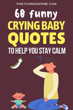A crying baby is something that all new parents will experience. Here is a collection of quotes that will help you through this! #cryingbabyquotes #bestquotes #cutebabyquotes Newborn Baby Quotes, Cute Baby Quotes, Baby Girl Quotes, Son Quotes, Daughter Quotes, Funny Crying Baby, Funny Babies, Baby Captions, Father And Baby