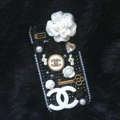 Another Custom Case - She wanted Coco Chanel with an Audrey Hepburn style! Bling, phone case, glitter, sparkle, homemade, unique, creative iPhone