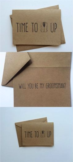 Most guys aren't great at emotion. Help out your groom with these sweet groomsman invitation cards | Made on Hatch.co by independent artists