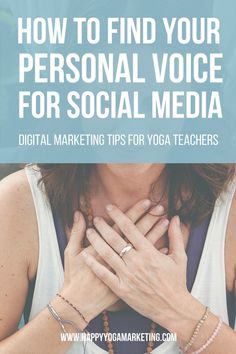 Are you a yoga teacher? Learn how to use your personal voice on social media…
