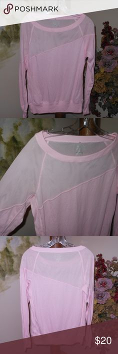 NIKE Dri Fit Mesh Top!! Small NEW--NO TAGS---ADORABLE Top From NIKE!!  Pale Pink IN Color with Mesh Detail--Pull Over with *****18 inches across Bodice and 25 inches for your Length****75% Poly/Cotton-Rayon Nike Tops