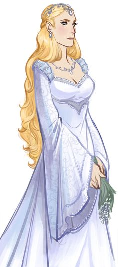 """Galadriel from """"Lord of the Rings"""" - Art by melkorwashere.tumblr.com <--- Wow this is awesome! I love this design!"""