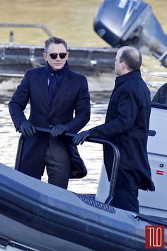 Daniel Craig and Rory Kinnear (James Bond and Tanner) filming Spectre -- via Tom and Lorenzo