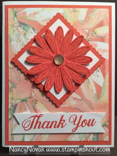 Thank you Daisy card. Visit my blog to learn more about stamping your own cards and to purchase Stampin Up products.