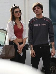 Louis and his new girlfriend Danielle Campbell... I watch her in The Originals!!!!