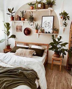 Room Design Bedroom, Room Ideas Bedroom, Home Bedroom, Diy Bedroom Decor, Home Decor, Bedroom Plants Decor, Bedroom Themes, Aesthetic Room Decor, Cozy Room