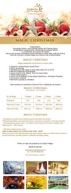 Newsletter MAGIC CHRISTMAS Darts, Resort Spa, Aqua, Relax, Magic, Explore, Christmas, Xmas, Weihnachten