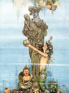 CHILDREN OF THE SEA   By Charles Robinson - illustrator of children's books in the 1920s