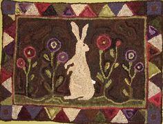 High On a Hill Prims: Primitive Bunny Rug