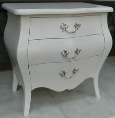 Mines French Bedside - White - LIMITED STOCK - Canalside Interiors